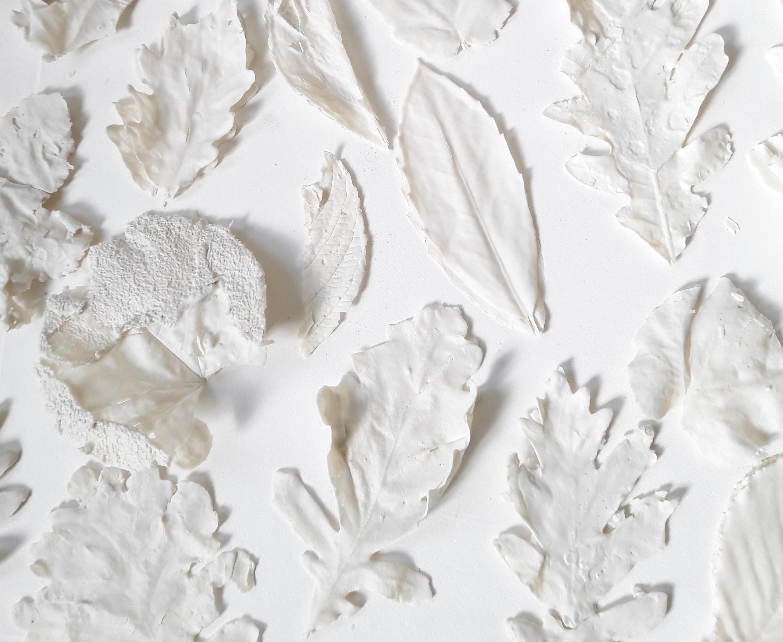Automne fossilisé (détail) - Porcelaine